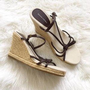 Banana Republic Brown Braided Espadrille Sandals 8